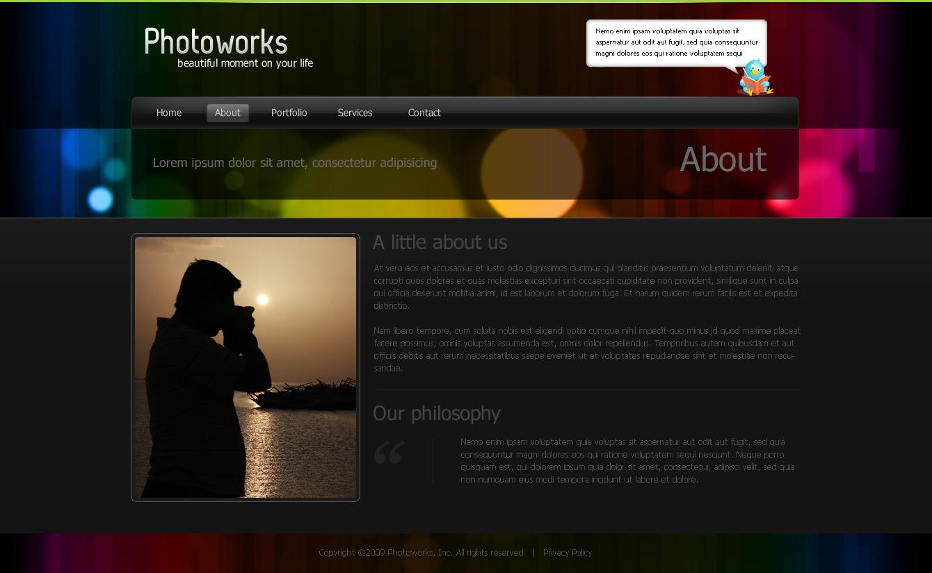 Photoworks - Photography & Portfolio PSD Template