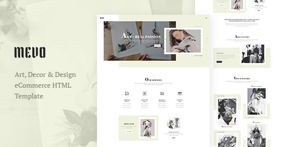 Mevo - Creative eCommerce HTML Template For Agency / Company / Studio