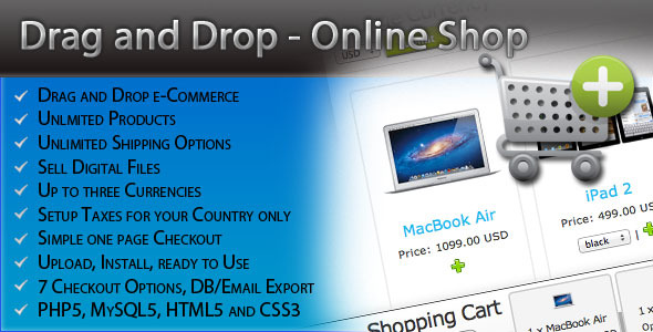 Drag and Drop Online Shop - CodeCanyon Item for Sale