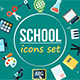 Animated School Related Icons