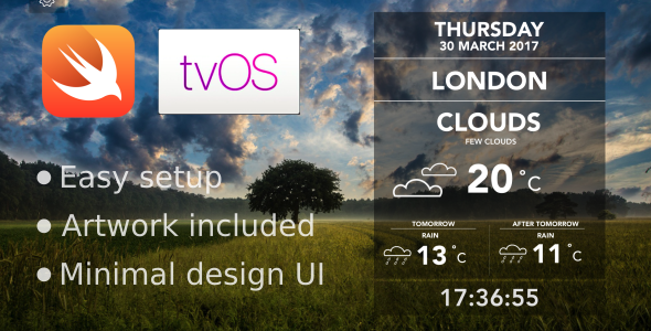 CodeCanyon Weather App for Apple TV 19690198