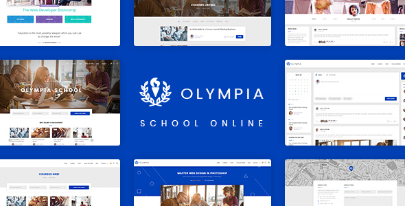 Olympia - School Online PSD Template