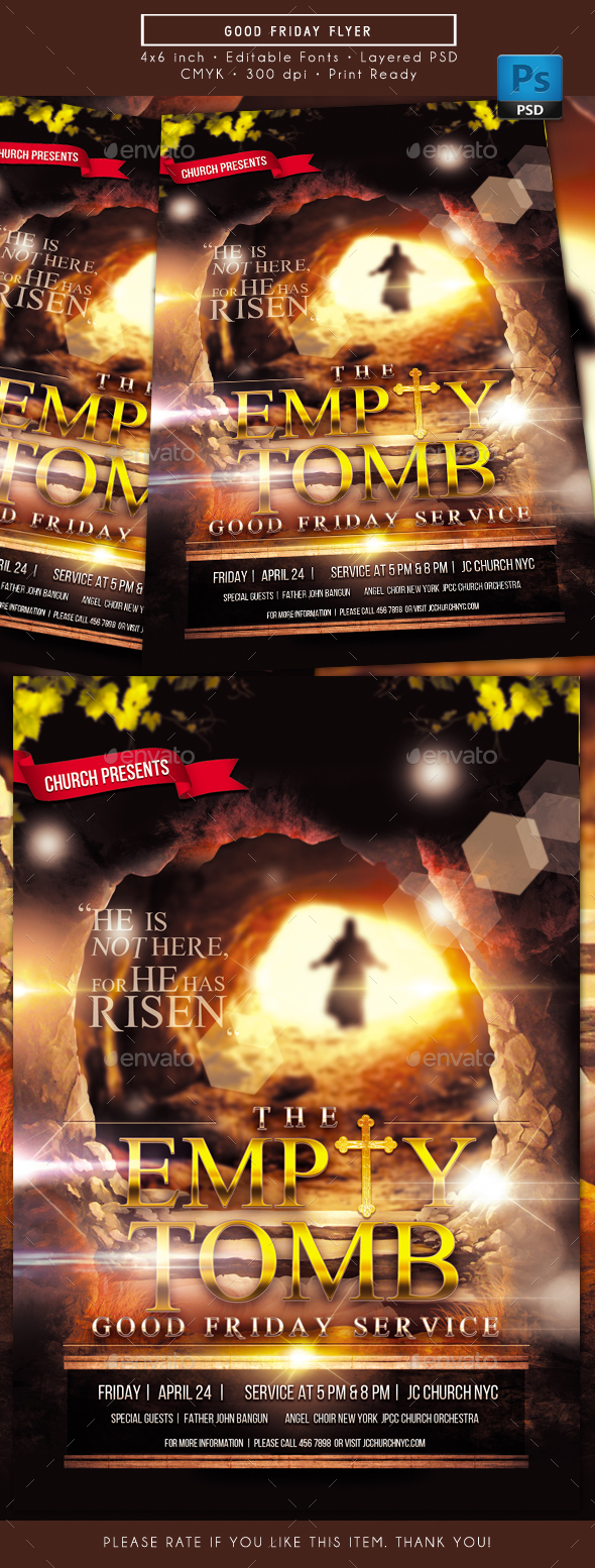 The Empty Tomb Good Friday Flyer