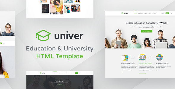 Univer – Multipurpose Education &amp University HTML Template (Corporate)