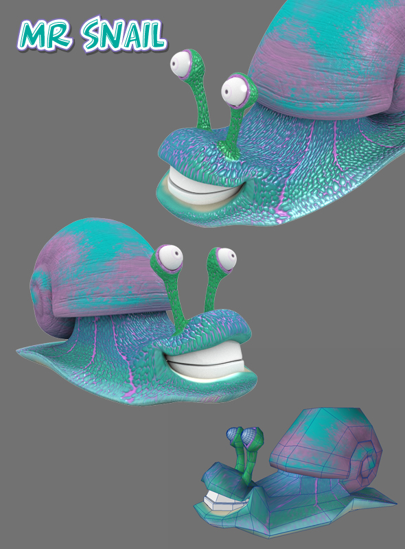 3DOcean Cute Snail 3D Models -  Animals  Insects and small animals 225039