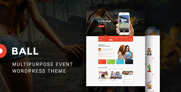 Ball — eSports / Gaming / Entertainment / Event / Portfolio WP Theme