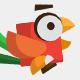 3 Flat Bird Characters
