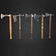 Set of 5 AAA medieval viking axes