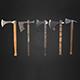 Set of 5 AAA medieval viking axes