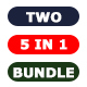 Bundle - TWO Photoshop Actions 5 in 1