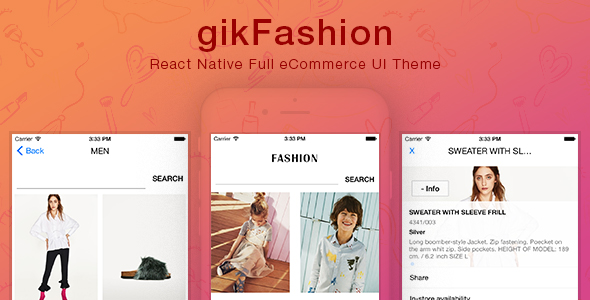 gikfashion react native full ecommerce ui theme jogjafile. Black Bedroom Furniture Sets. Home Design Ideas