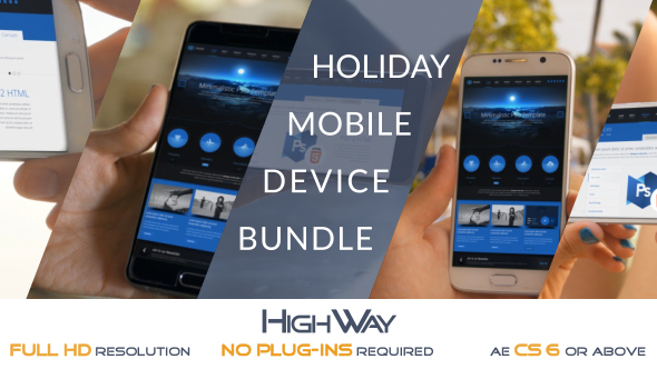 VideoHive Holiday Mobile Device Bundle Match Moving 19676952