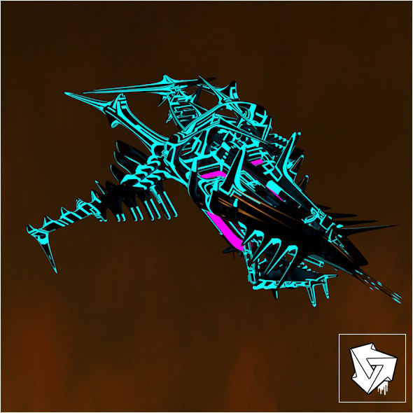 Small space ship of fire support - 3DOcean Item for Sale