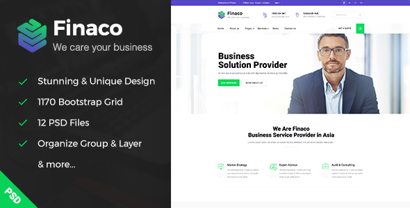 Finaco - Business & Finance PSD Template
