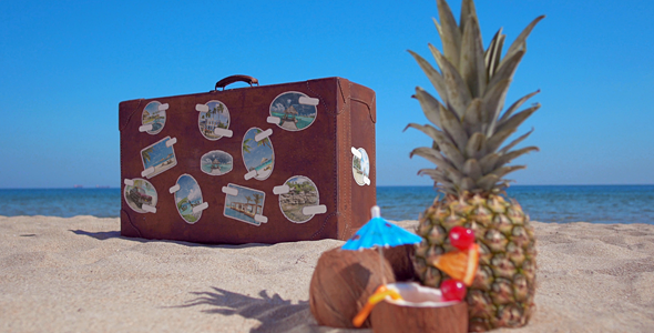 VideoHive The Retro Suitcase Holiday & Travel Promotion 19695235