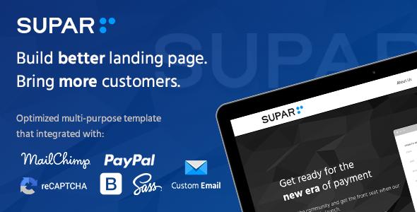 Supar | Multi-Purpose Landing Page HTML Template