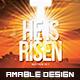 He is Risen Church Flyer