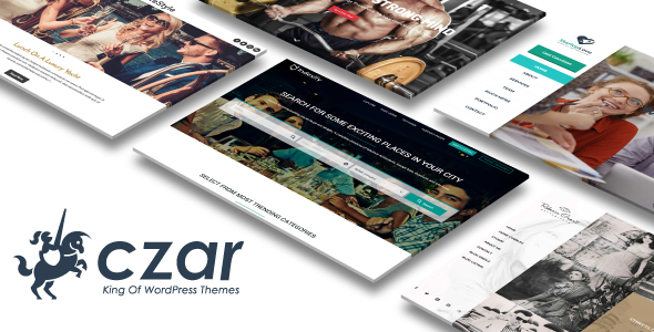 Фото Wordpress Template  Czar - WooCommerce Directory Listing Theme — preview image.  large preview