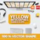 Yellow Infographic Set Design