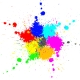 Color paint splashes background - GraphicRiver Item for Sale