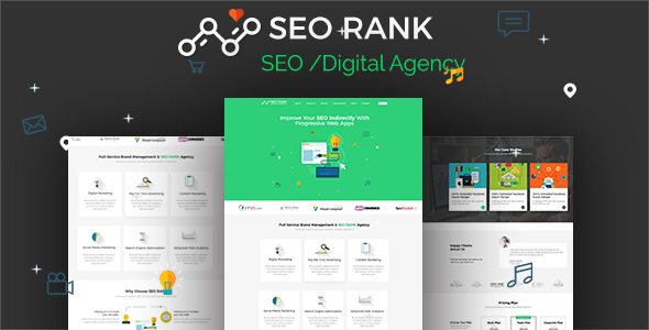 SEO Rank - PSD Template