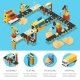 Isometric Industrial Factory Composition