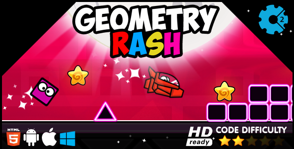 CodeCanyon Geometry Rash HTML5 Game 19697807