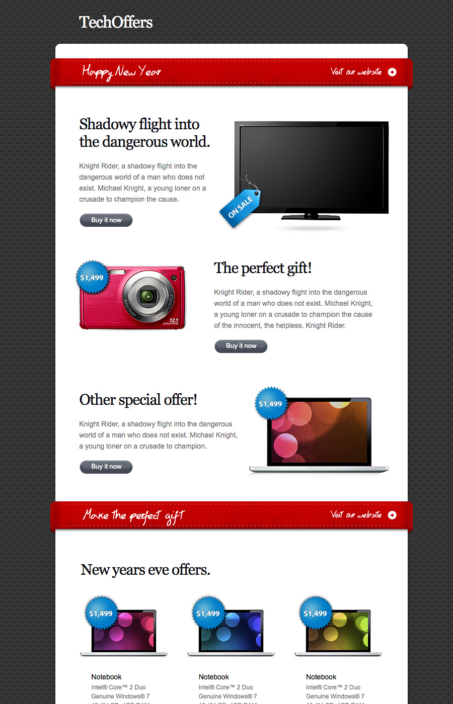 TechOffers - Multipurpose Minimalist Newsletter