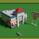 Low Poly Fast Food Restaurant (+interior) Pack