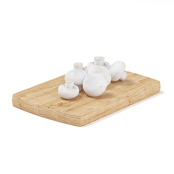 Mushrooms on Wooden Board - 3DOcean Item for Sale
