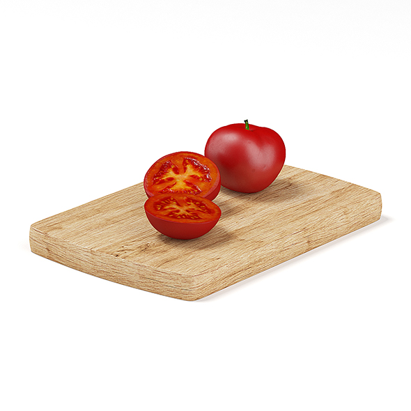 Whole and Sliced Tomato - 3DOcean Item for Sale