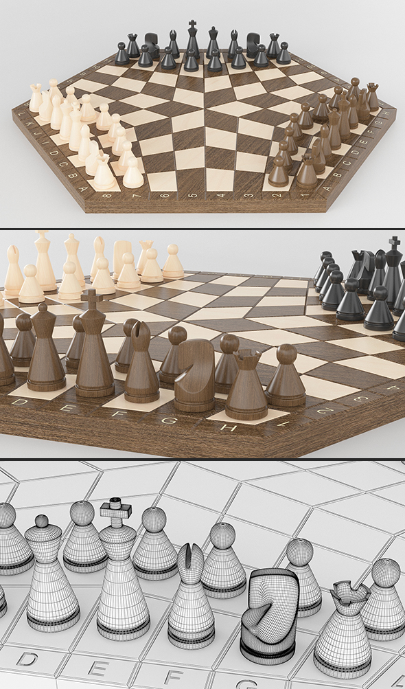 3DOcean Three-player chess Three-handed 19699400