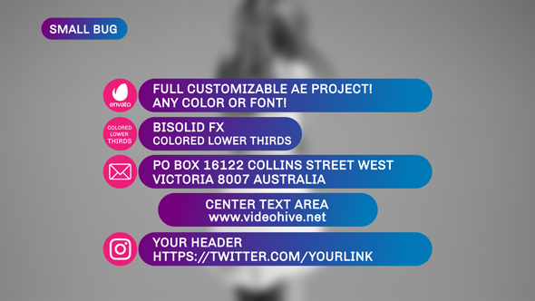 VideoHive Colored Lower Thirds 19700017