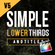 Download Simple Lower Thirds For FCPX from VideHive