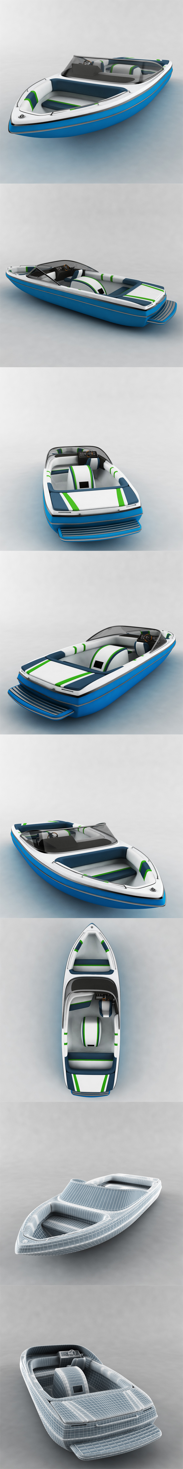 3DOcean Motor Boat sea 19700408