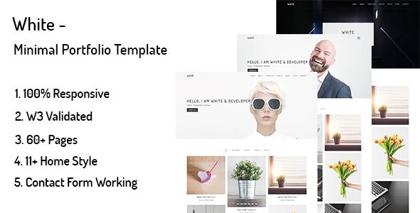 White – Minimal Portfolio Template