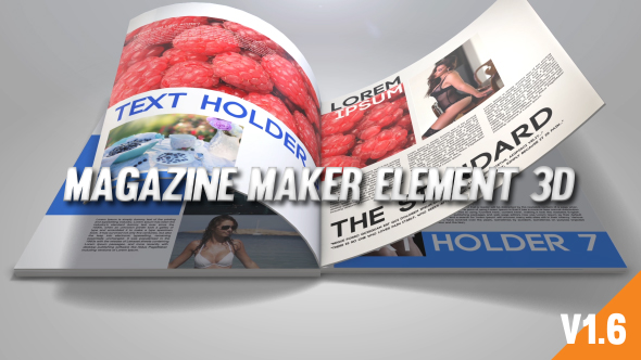 Videohive - Magazine Maker Element 3D 19627387 - Free Download