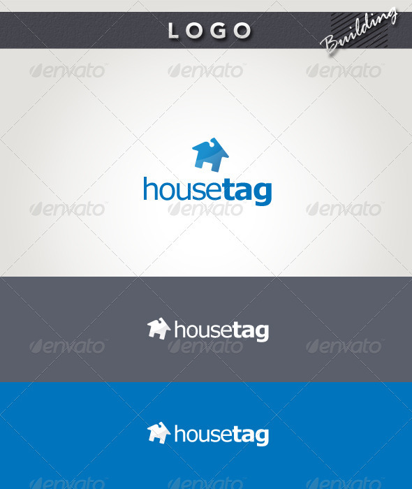House Tag Logo - Buildings Logo Templates