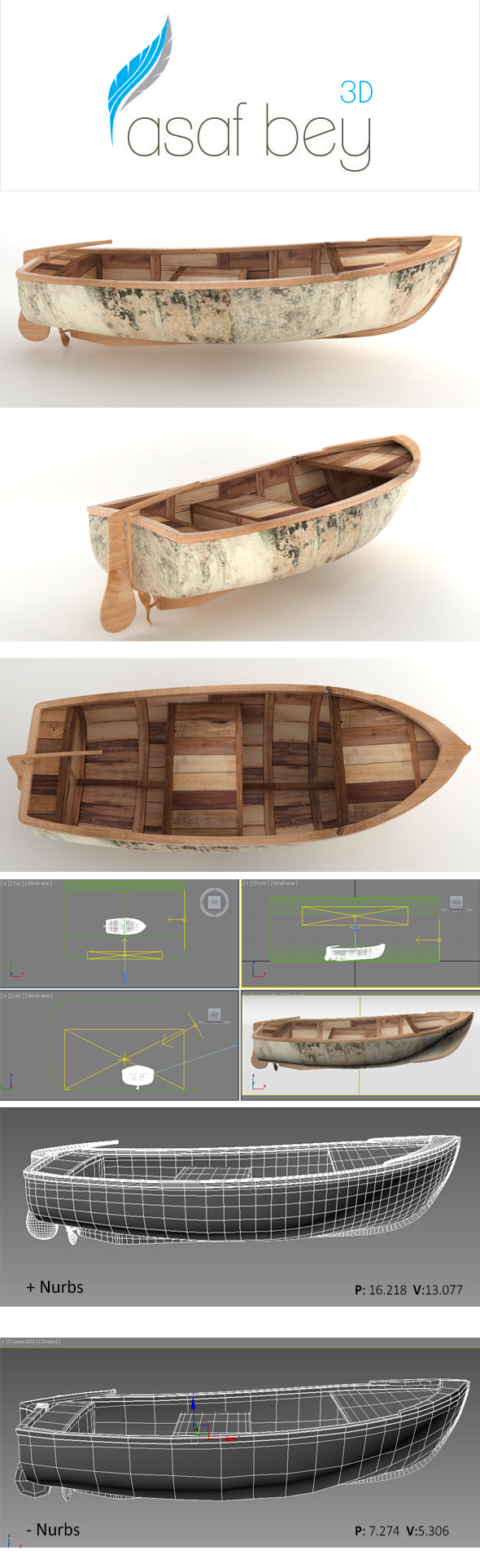 fisher boat - 3DOcean Item for Sale