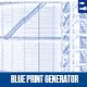 Architectural Blue Print Generator- Photo Template