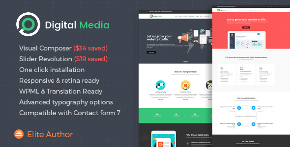 Digital Media - Digital Marketing WordPress theme