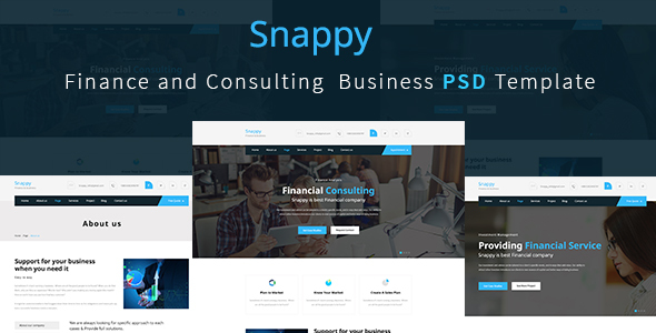 Finance and Consulting  Business Template