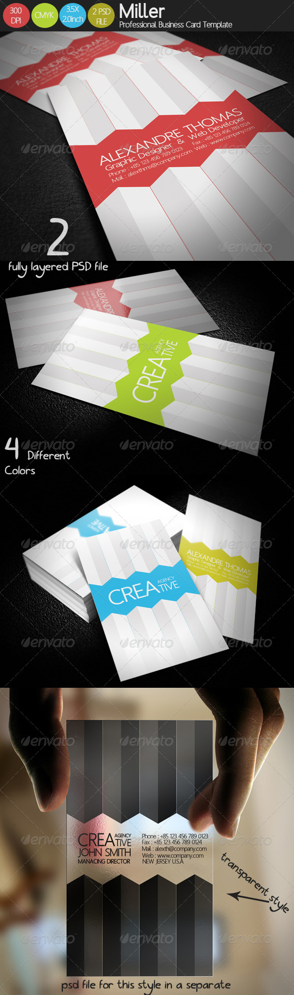 Miller Business Card - Creative Business Cards