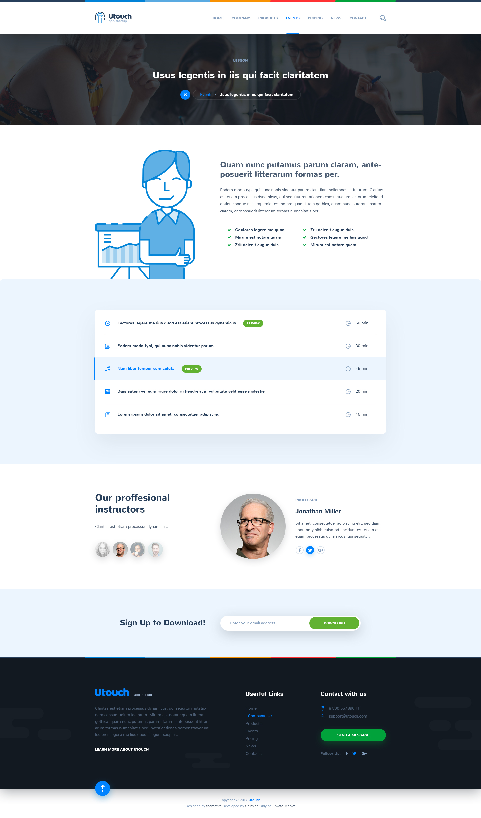 Utouch - App Startup Website PSD Template by themefire