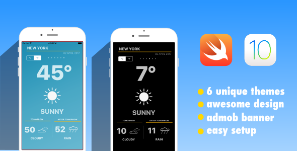 Climate App | Swift three | iOS 10 | AdMob (Complete Applications)