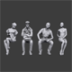 Lowpoly Sitting People Pack Vol.1