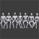 Lowpoly Sitting People Pack Vol. 3