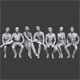 Lowpoly Sitting People Pack Vol. 4