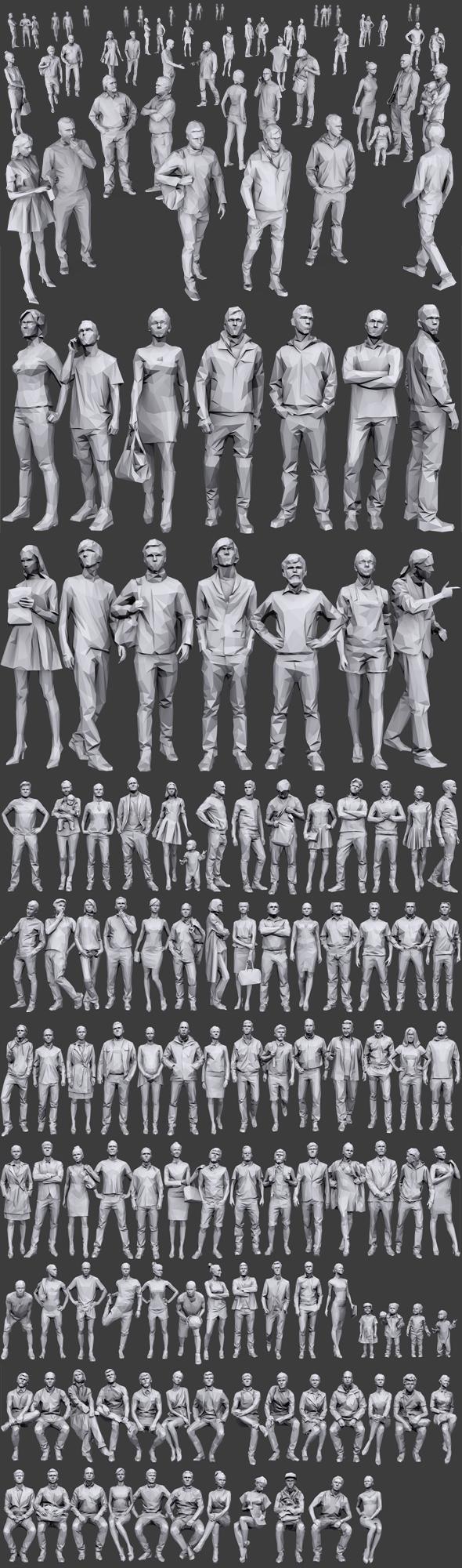 3DOcean Complete Lowpoly People Pack 19703556