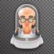 Bald Scientist Avatar Retro Realistic Helmet
